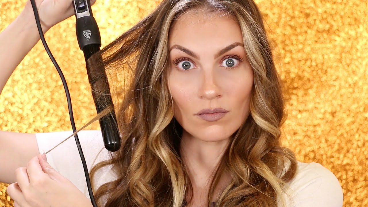 How To Curl Your Hair Curling Wand Tutorial UNDER 10