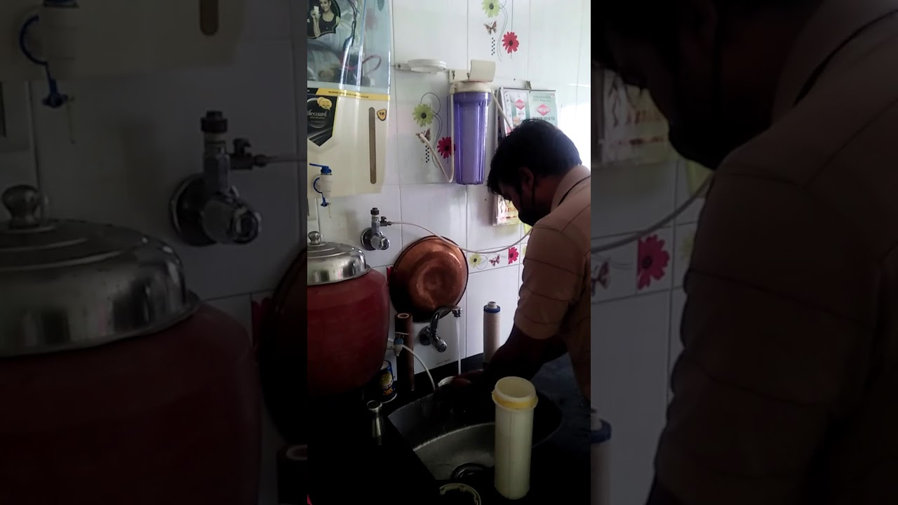 Water purifier service/with two Bowl