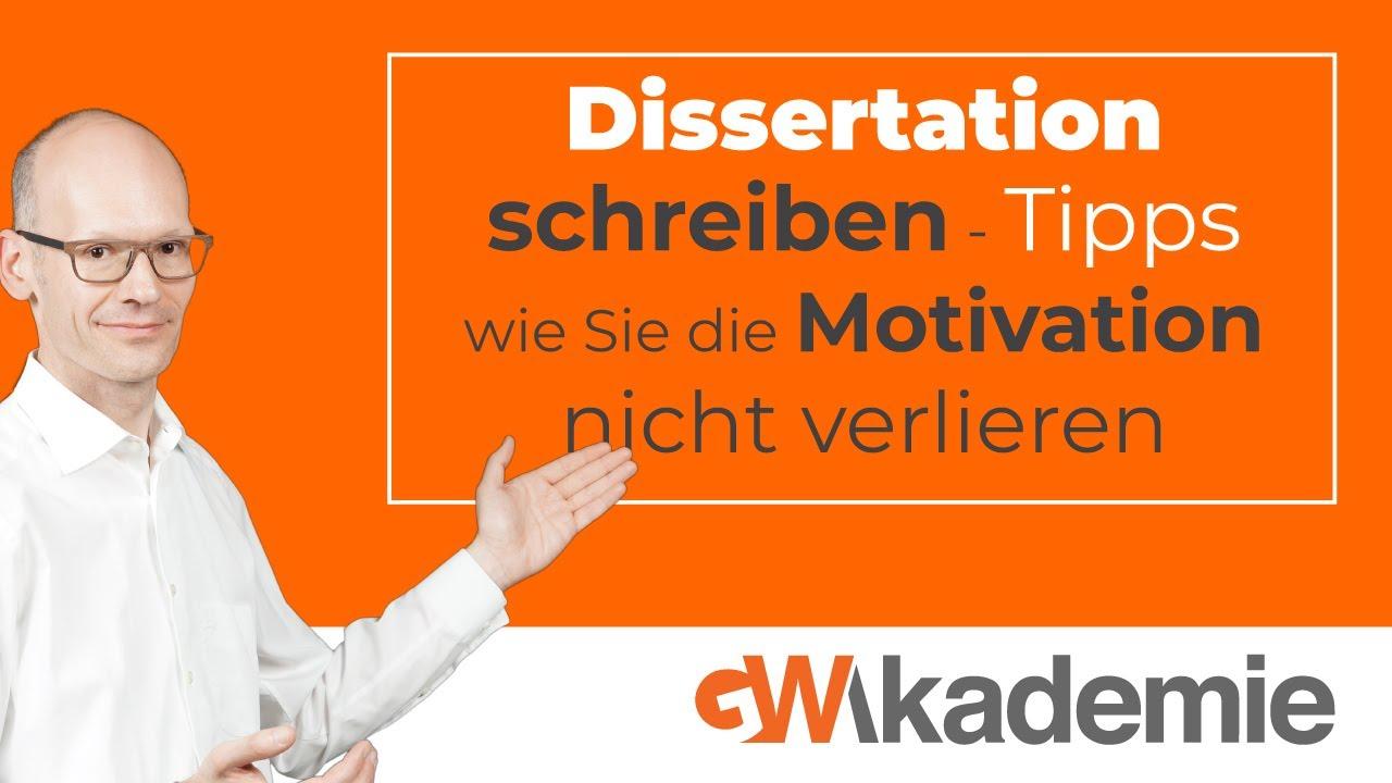 Dissertation Schreiben Tipps