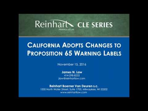 California's Proposition 65 Warning Labels