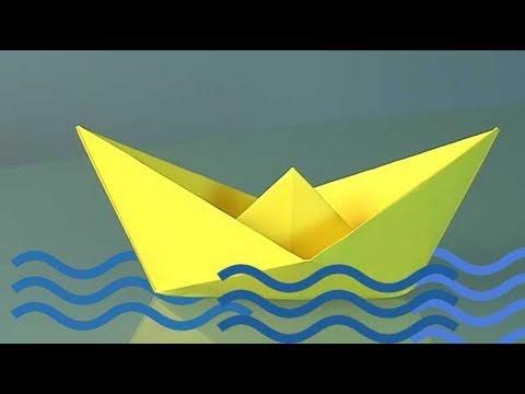 Comment Faire Un Bateau En Papier Origami Youtube