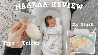 HAAKAA BREAST PUMP REVIEW + TIPS & TRICKS   HOW I CREATED A STASH FOR MY NEWBORN