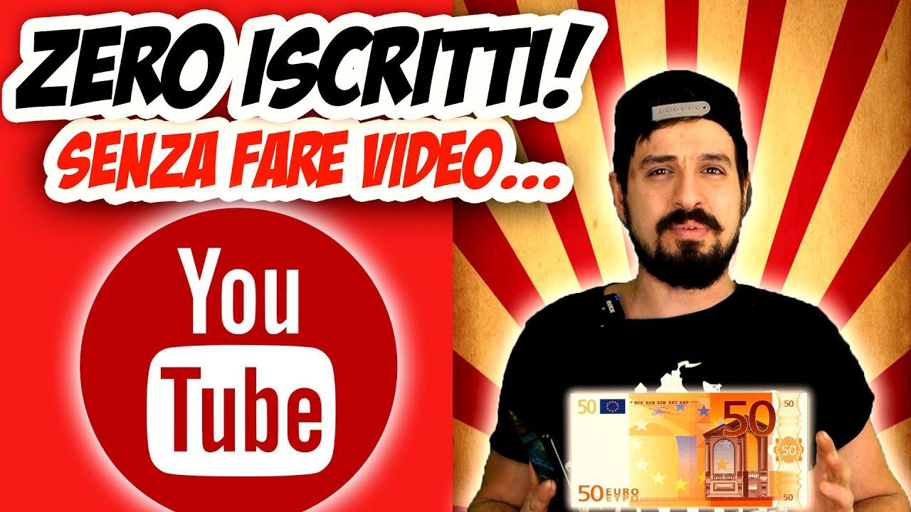 guadagnare con youtube senza pubblicità