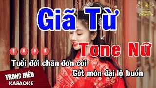 Karaoke Giã Từ Tone Nữ Nhạc Sống | Trọng Hiếu