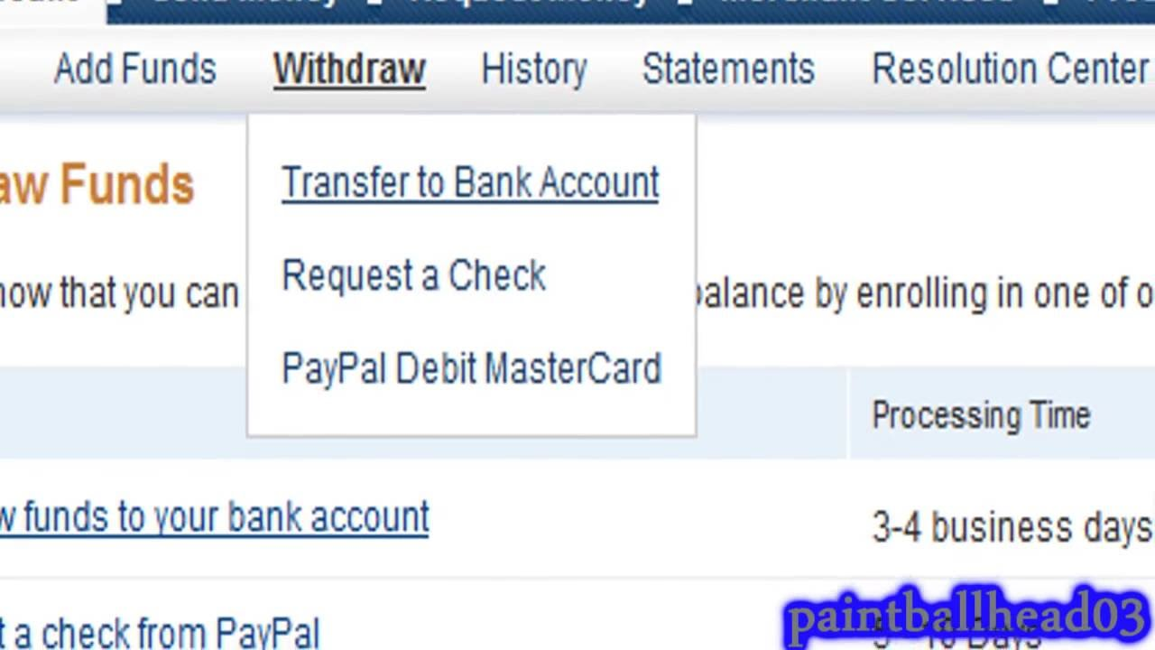 how can i withdraw money from paypal without a bank account