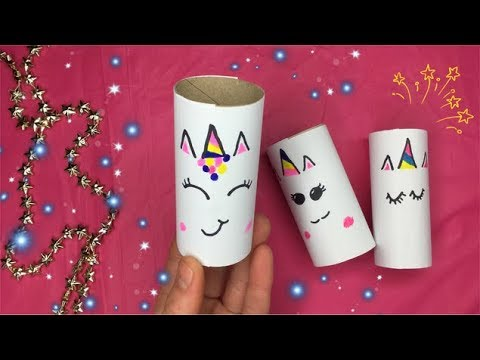 ♡  #DIY KNUTSELEN: UNICORN KNUTSELEN MET PAPIER & WC ROL  ♡ DIY: TOILET ROLL CRAFT UNICORN
