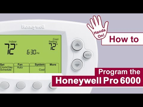 How to program the Honeywell Pro 6000 Thermostat