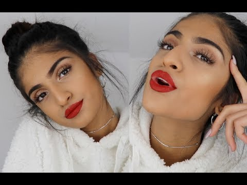 FESTIVE RED CHRISTMAS CLASSIC MAKEUP LOOK ❤️🎄| Kim Mann