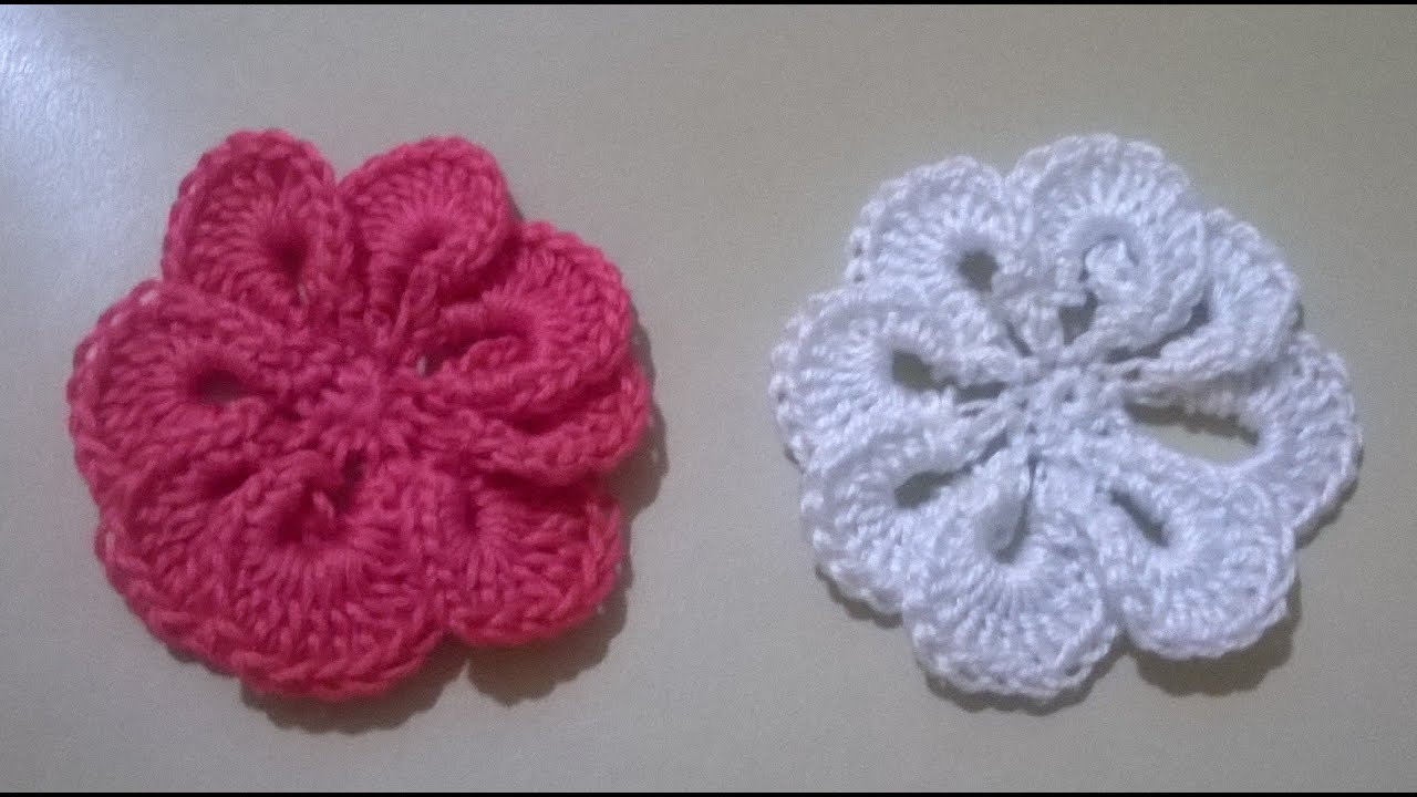 Fabuleux FIORE UNCINETTO TUTORIAL/TUTORIAL CROCHET - YouTube HJ11