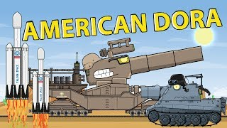 """American Dora"" Cartoons about tanks"