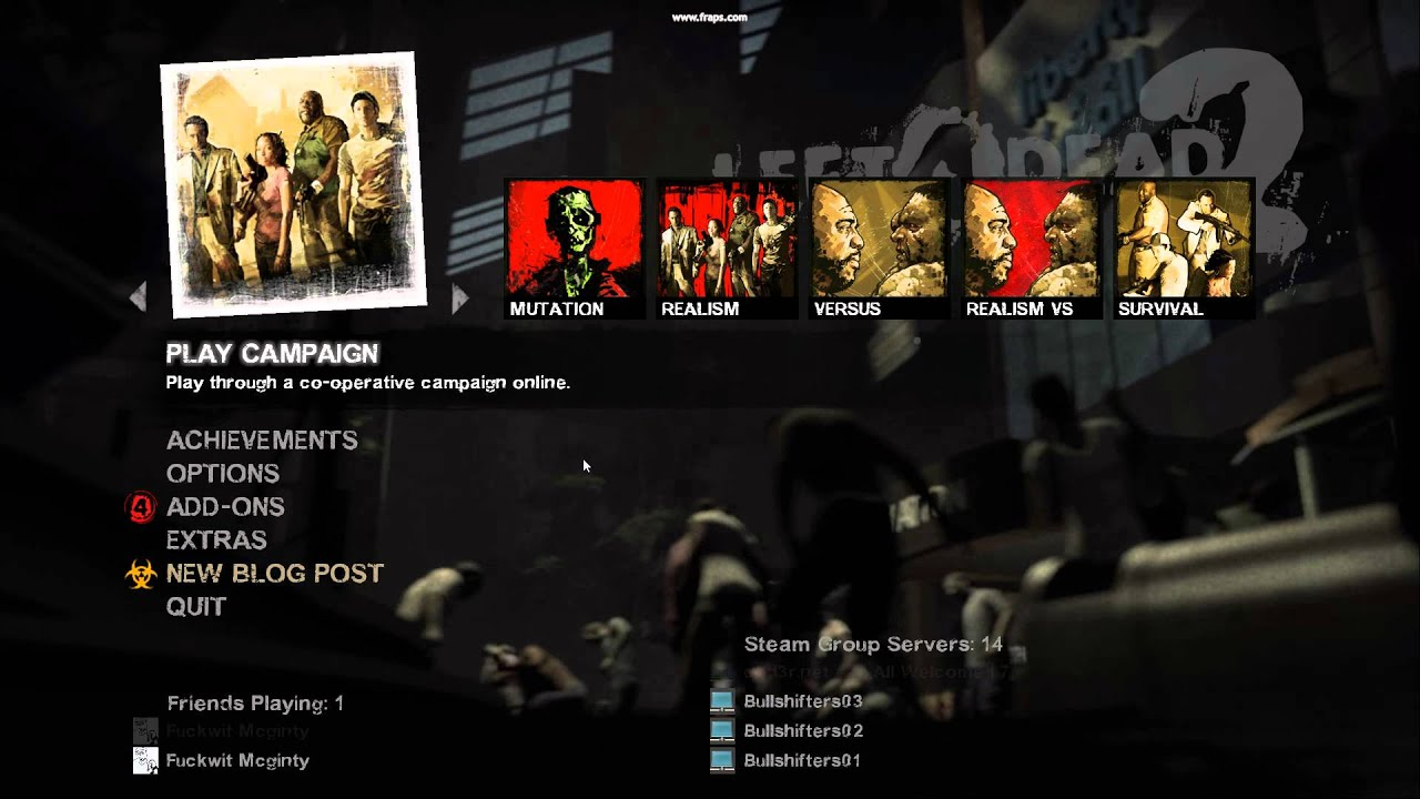 Call of Duty Black Ops 2 Zombies theme (Left 4 Dead 2