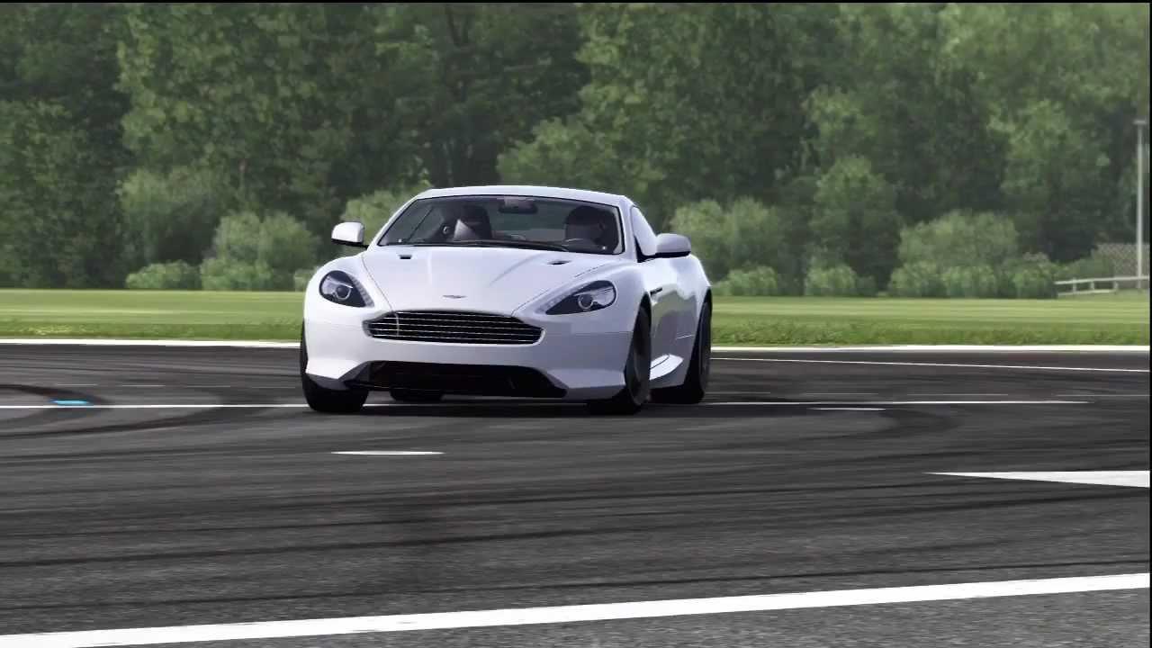 Aston Martin Virage Top Gear Track
