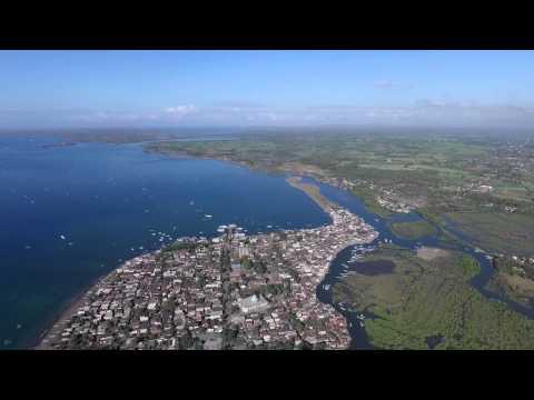 Lombok Timur dari udara