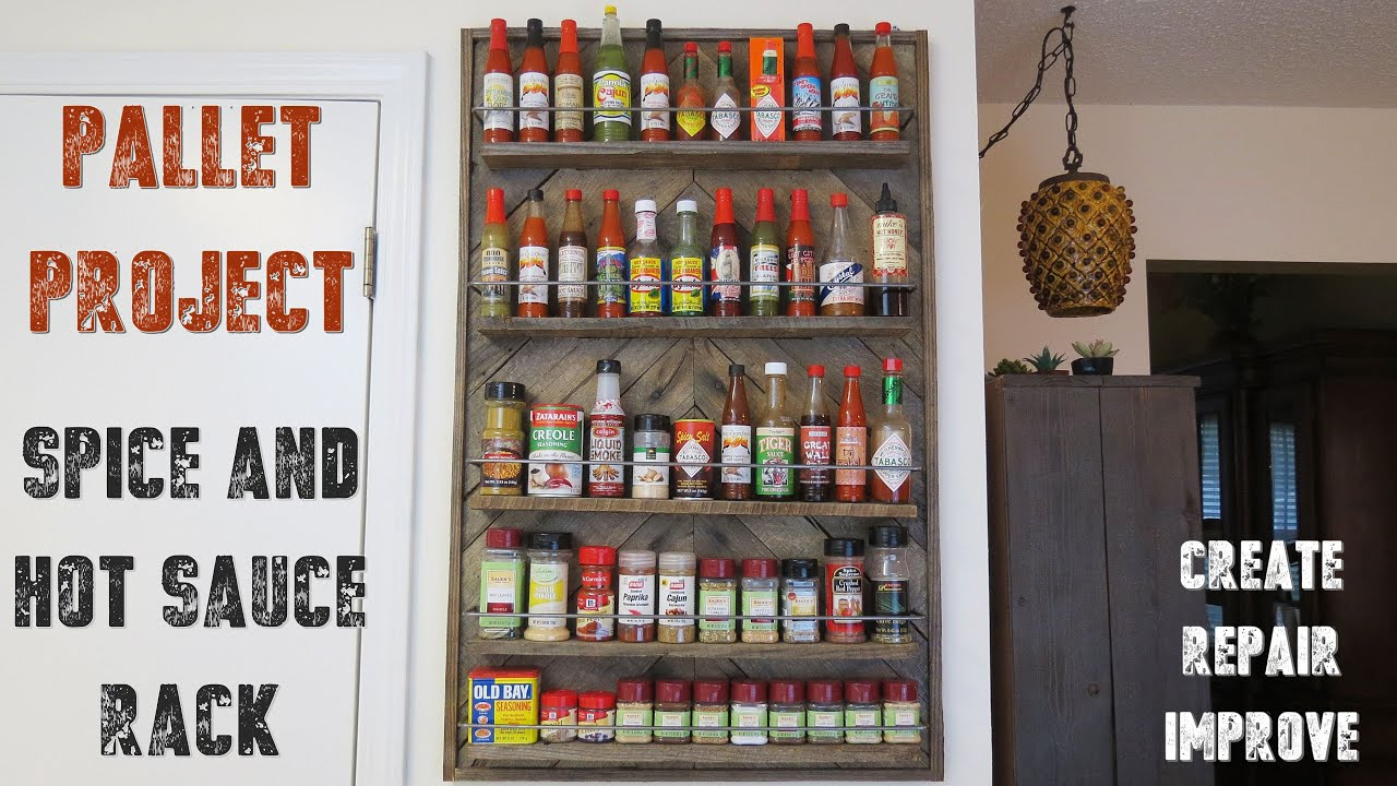 How To Make A Spice Rack From Recycled Pallet Wood Youtube