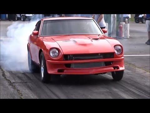 High flying nitrous Datsun puts it on the bumper at the dirty south no prep