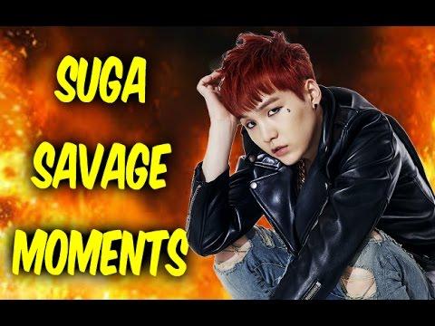 BTS Suga Savage Moments