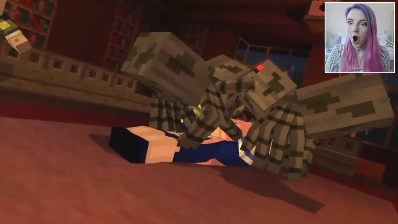 Lizzie Letting Herself Die In Minecraft Story Mode Youtube