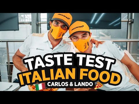 Carlos Sainz and Lando Norris Try Italian Food