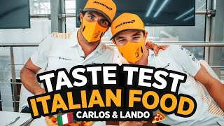 Carlos Sainz and Lando Norris Try Italian Food