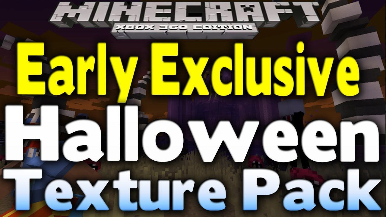 minecraft xbox 360 exclusive free halloween texture pack early gameplay showcase - Halloween Xbox 360