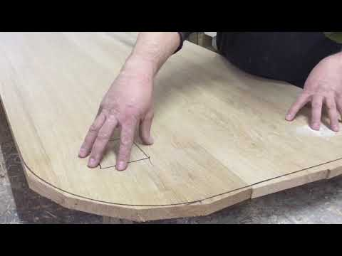 Как правильно склеить столешницу из массива