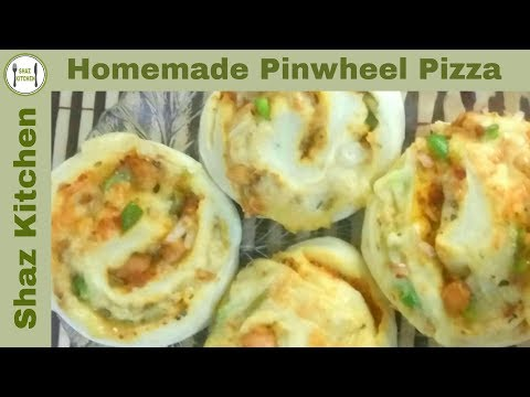 Pinwheel Pizza Kids Special Recipe   Yummy & Cheesy Pinwheel Pizza Recipe (In Urdu) By Shaz Kitchen