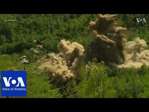 Video of North Korea dismantling nuclear site