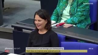 Bundestagsdebatte zum Kohleausstieg am 03.07.20.