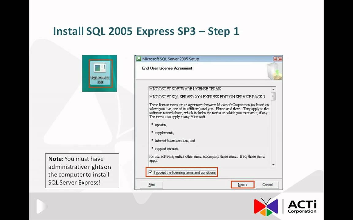 download sql server 2005 express edition sp3
