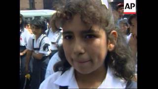PERU: LIMA: DEMONSTRATION AGAINST INCREASE IN CHILD RAPES