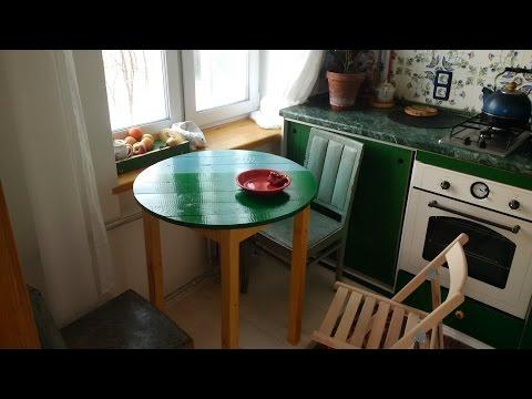 Как сделать самому круглый стол на кухню