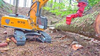 BC8 Mammoth Liebherr Equipment! Excavator RC extreme / Liebherr Excavator /After Forest Flooding