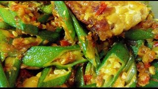 Simple Sambal Lady's Finger (okra) And Tempeh