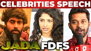 Kathir's Jada FDFS Semma Mass Celebrations At Rohini Theatre | Kathir | Sam C.S