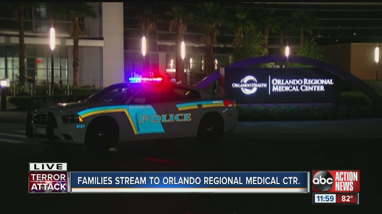 Families stream to Orlando Regional Medical Center after nightclub shooting