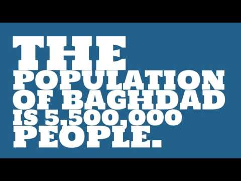 What is the land area of Baghdad?