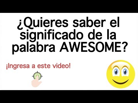 Que significa awesomeen español