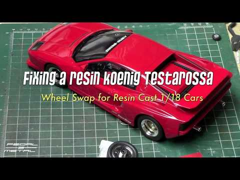 1/18 Koenig Testarossa Wheel Swap Repair | GT Spirit (Otto) Resin