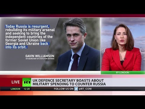 Gavin Williamson boasts about military spending to counter Russia