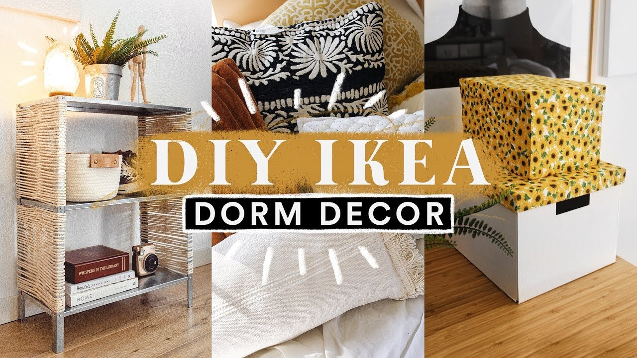 DIY IKEA DORM ROOM DECOR + HACKS ️ Super Easy + Aesthetic ...