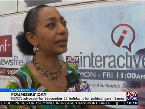 NDC's advocacy for September 21 Holiday is for political gain - News Desk on Joy News (21-9-17)