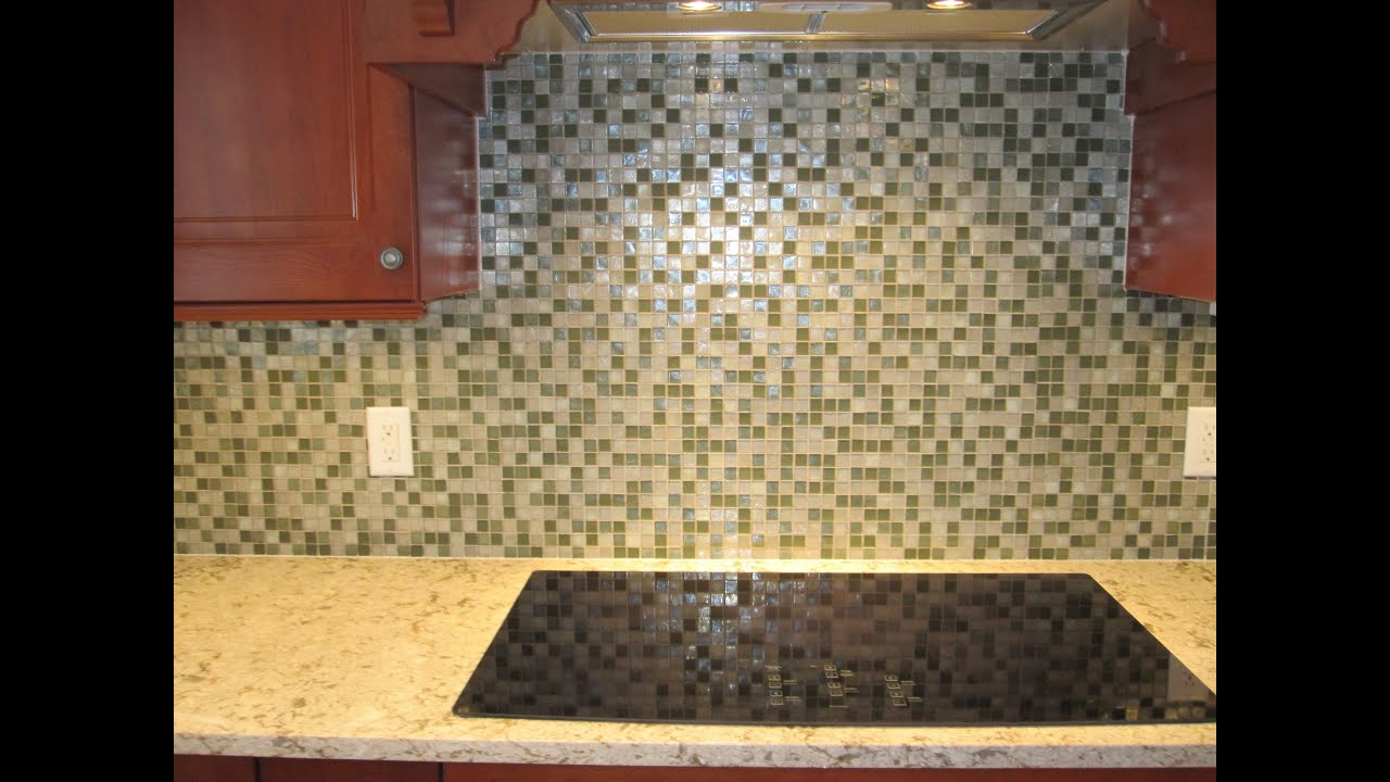 How To Install Backsplash Kitchen Glass Tile