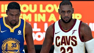 NBA 2K18 | Cleveland Cavs vs Golden State Warriors Gameplay (Updated Rosters)