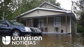 Habitantes de Carolina del Norte que no evacuaron temen que más ríos se desborden e inunden hogares