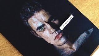 Drawing Paul Wesley as Stefan Salvatore from TVD