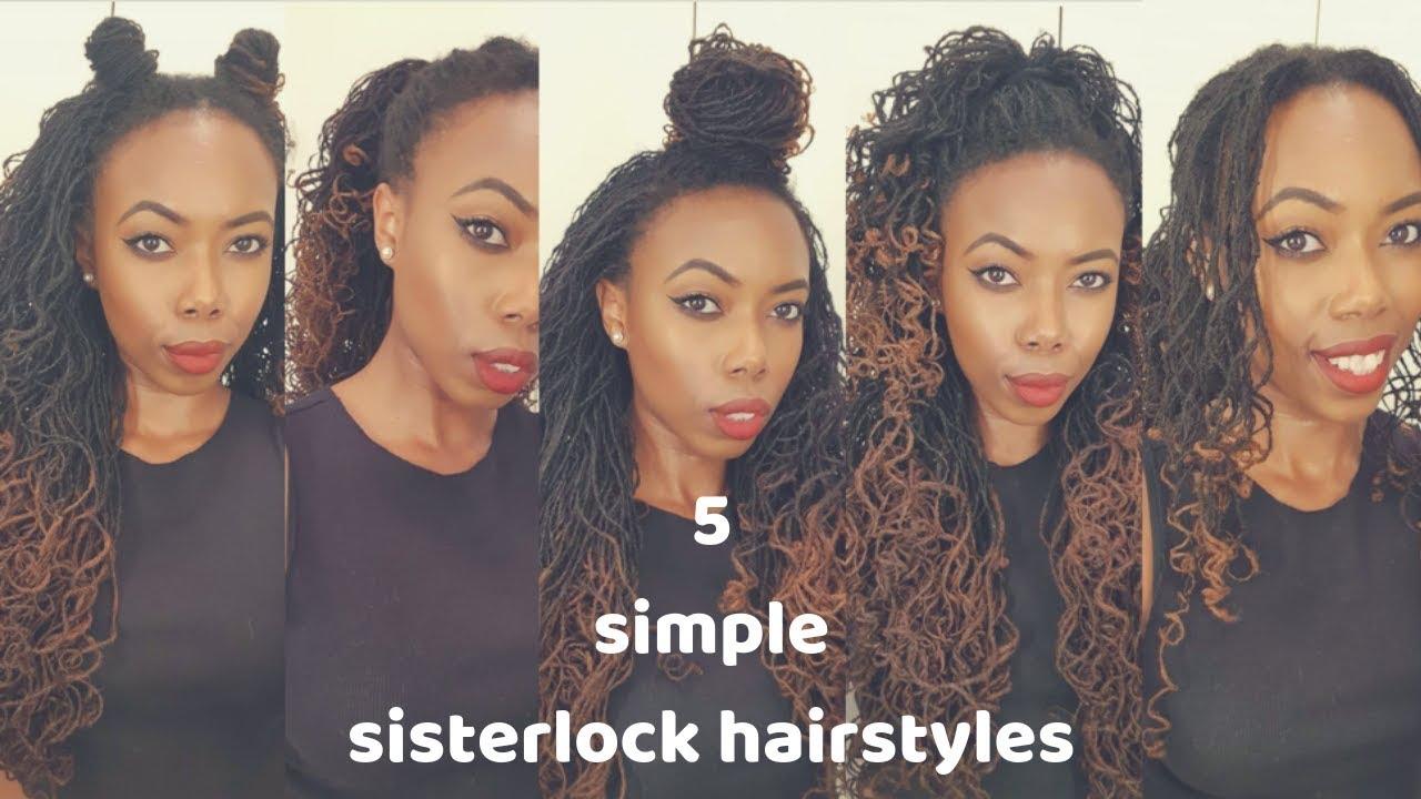 5 simple sisterlock hairstyles | locs & life