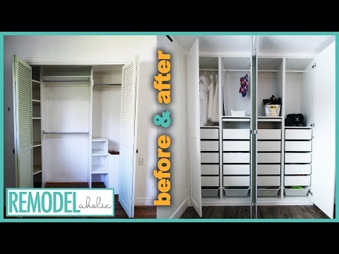 Bedroom Closet Organization Transformation With IKEA PAX Closet System
