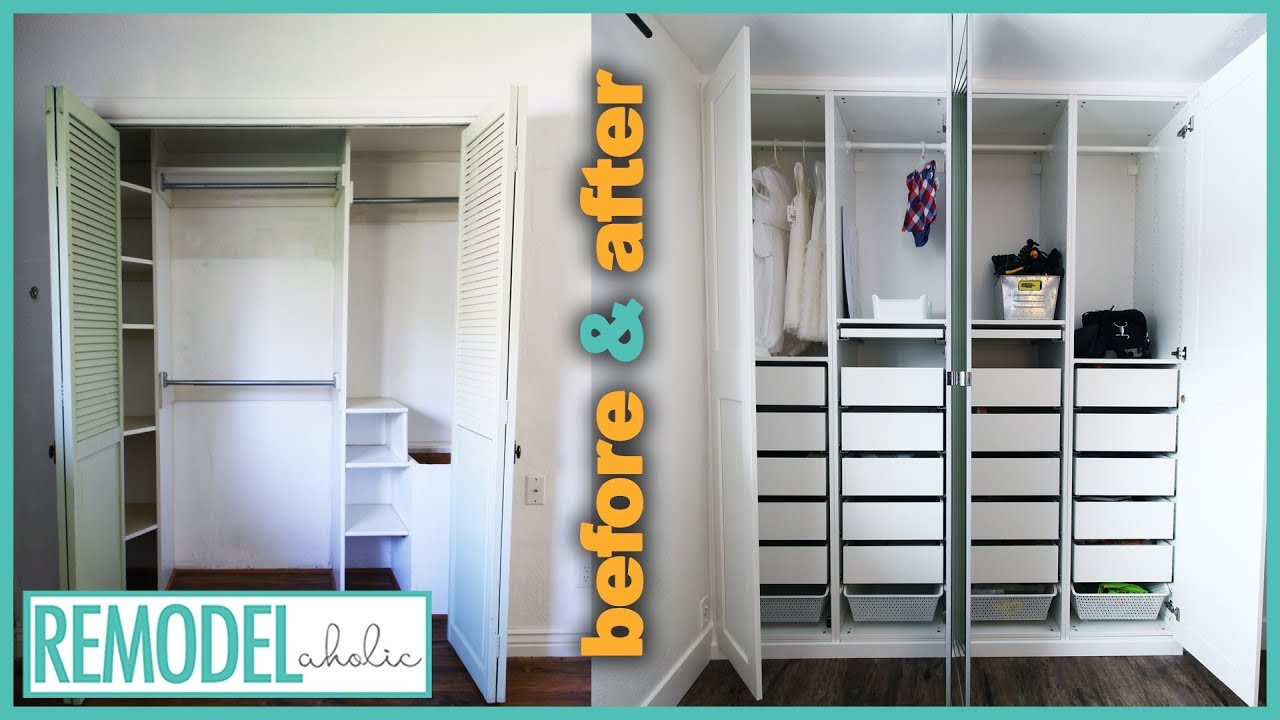 Bedroom Closet Organization Transformation With IKEA PAX Closet ...