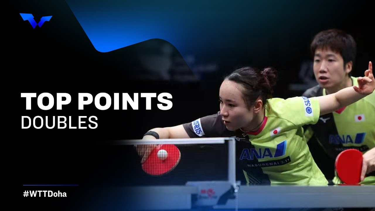 Download INCREDIBLE TABLE TENNIS RALLIES   Doubles Finals   WTT Star Contender Doha 2021