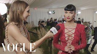 Megan Fox on Her Dracula-Inspired Met Look | Met Gala 2021 With Emma Chamberlain | Vogue